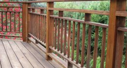 Use various kind of railing for decking system