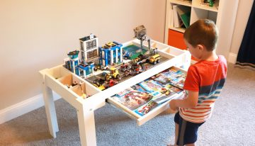 Designing a Lego Table for a Kid with the Most Useful Tools Available