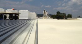 What are the sound advantages of the spray foam roofing?